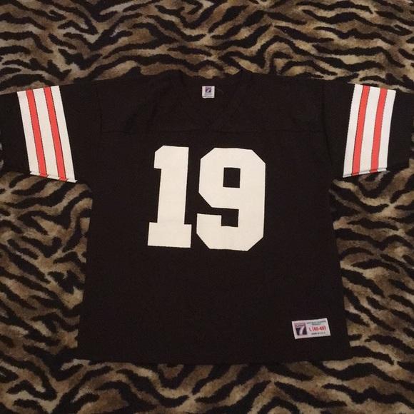 buy popular 832f6 17aff Cleveland Browns Logo 7 #19 Bernie Kosar Jersey L